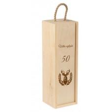 Drevená krabica na fľašu 01