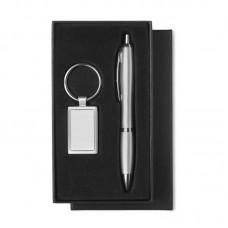 Pero guľôčkové (modrá náplň )a kľúčenka v darčekovom balení